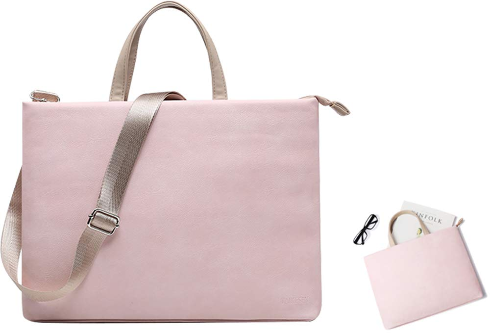 PU Leather Laptop Tote Bag by Zoppen