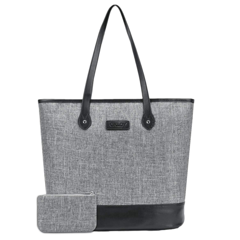 Multi-Pocket Laptop Tote Bag by Okloy